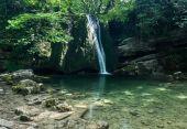 Janet's Foss Waterfall, Malham — Stock Photo