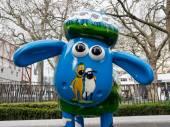 Aardmen's Shaun the Sheep Characters on display around London — Stock Photo