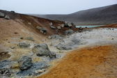 Sulfur, ground near volcano Krafla, Iceland — Stock Photo