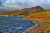 Colorful lake Myvatn, Iceland — Stock Photo