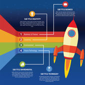 Business infographic rocket — Vector de stock