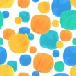 Vector Watercolor Seamless Pattern With Blue and Orange Blobs — Stock Vector #70634717