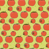 Tomatoes pattern — Stock Vector