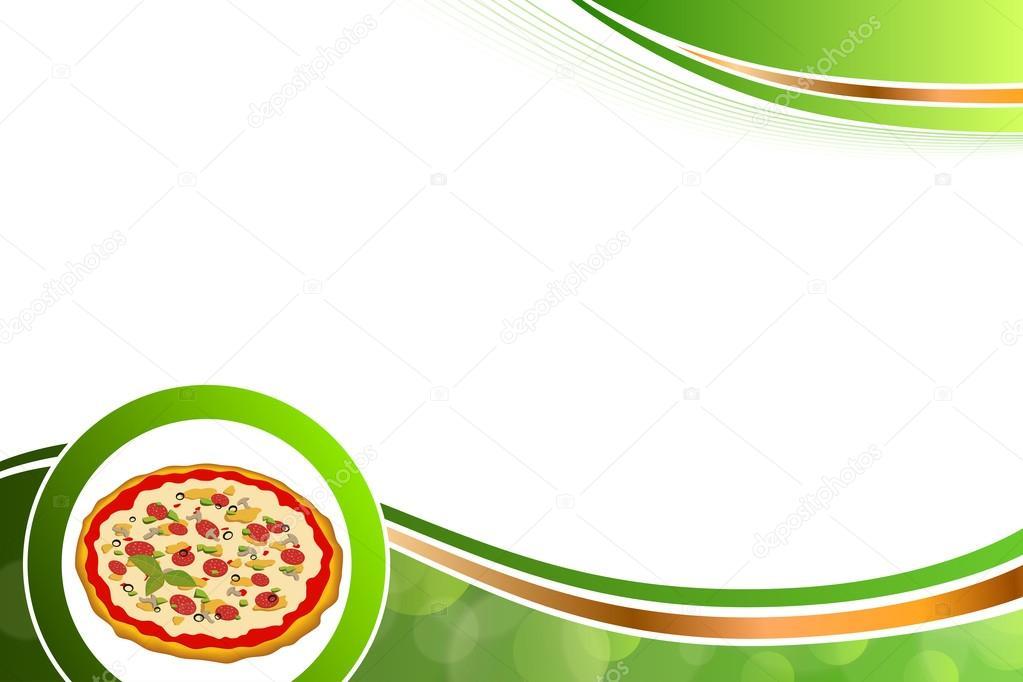 Verde Vector De Fondo Abstracto De Comida Rápida Pizza