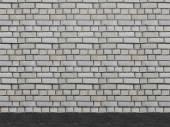 Background dirty grey brick wall 3d illustration — Stock Photo