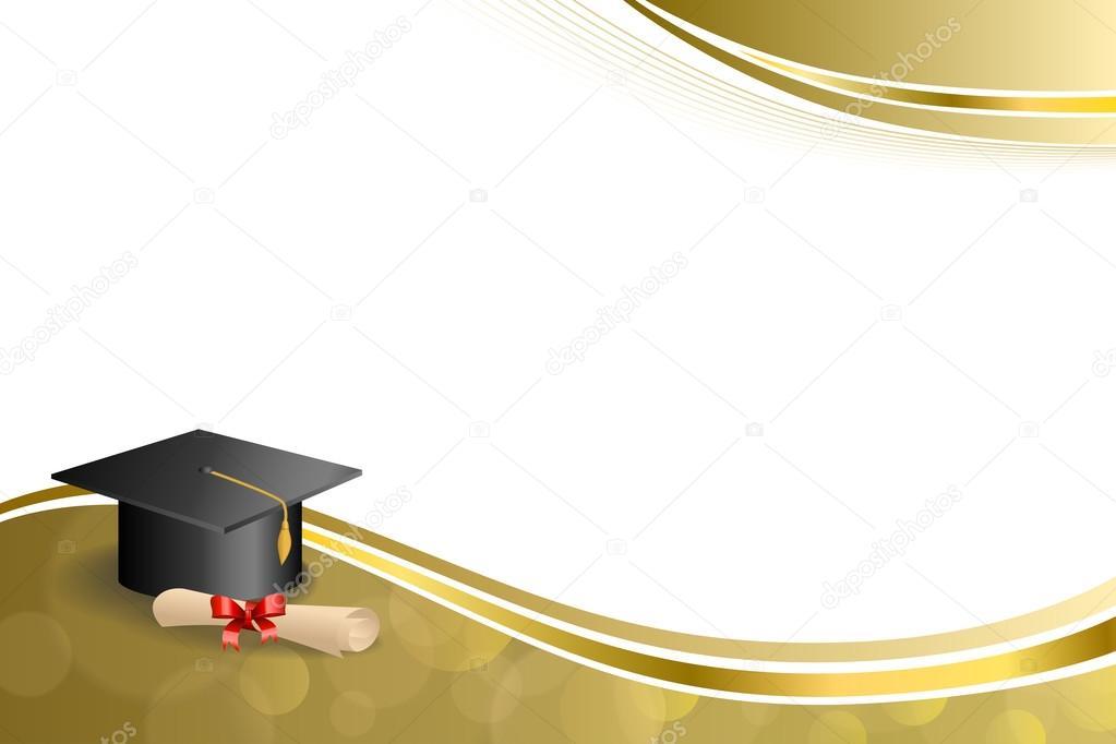 ... diploma red bow gold frame illustration vector — Stock Illustration