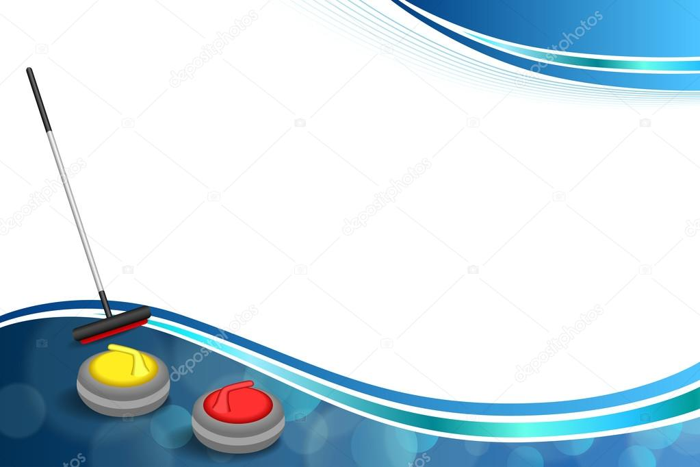 Background Abstract Volleyball Blue Yellow Ball Frame: Background Abstract Curling Sport Blue Ice Red Yellow