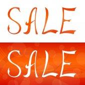 Sale text lettering design frame illustration vector — Stock Vector