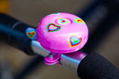 Pink bycicle bell — Foto de Stock