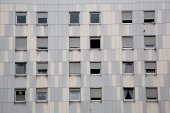 Windows of block of flats — Stock Photo