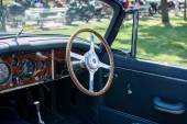 Subotica,Serbia -July 05,2015. 1958 Jaguar XF 150 Roadster on Annual oldtimer car show Subotica 2015. Various vintage cars and motorcycles.In organization of Oldtimer Club Subotica. — Stock Photo