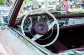 Subotica,Serbia -July 05,2015. Mercedes SL280 from 1971 on Annual oldtimer car show Subotica 2015.Various vintage cars and motorcycles,30 years old and more.In organization of Oldtimer Club Subotica. — Stock Photo