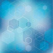 Astratti blu cubi vector sfondo. — Vettoriale Stock