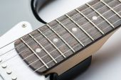 Guitar frets with strings — Stock Photo