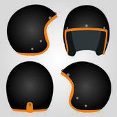 Retro capacete da motocicleta — Vetor de Stock