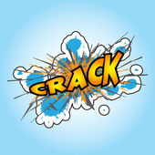 Crack — Stock Vector