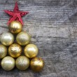 Christmas tree made of decoration — Stock Photo #71603577