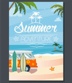 Summer Poster — Stock Vector