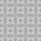 Seamless monochrome ornament — Stock Vector