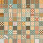 100 Retro set  vector geometric seamless — Stock Photo #75664837