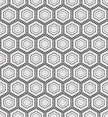 Seamless monochrome pattern hex — Stock Vector