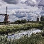Kinderdijk in Holland - Windmill — Stock Photo #70321683