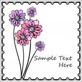 Modèle de carte de fleur — Vecteur