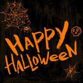 Happy halloween - template for greeting card in grunge style. — Stockvektor