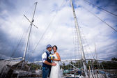 Yacht wedding — Stock Photo
