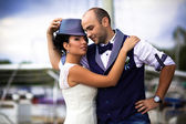 Original stylish wedding — Stock Photo