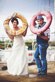 Original stylish wedding — Stockfoto