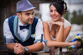 Original stylish wedding — Stockfoto