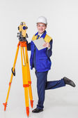 Surveyor isolated — Stock fotografie