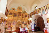 The iconostasis of the Orthodox Church Ukraine — Stock Photo