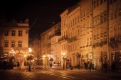 Evening, city, Lviv — Stock Photo