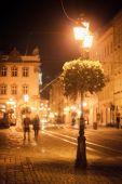 Evening, city, Lviv — Stock Photo