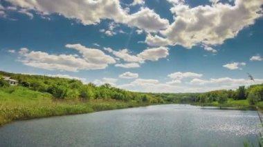 Landschap lake — Stockvideo