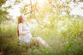 Pregnant belly — Stock Photo