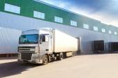 Truck, warehouse — Stock Photo