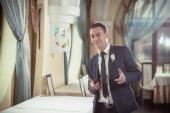 Cheerful groom — Stock Photo