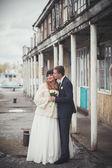 Sweet wedding couple — Stock Photo