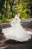 Bride dancing — Stock Photo