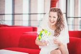 Bride sofa — Stock Photo