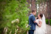 Wedding in park — Stock Photo