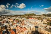 Lviv from a height — Stock Photo