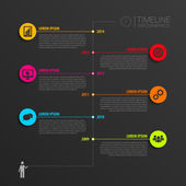 Timeline infographic elements. Vector with icons — Vector de stock