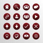 Web design flat icons set — Stock Vector