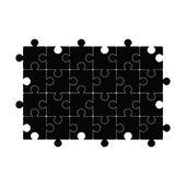 Black puzzle template. Vector illustration — Stock Vector