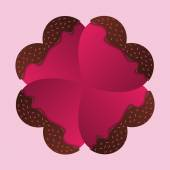 Happy Valentines Day card. Chocolate hearts. Vector — Stock Vector