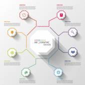 Modern business Infographics Octagon. Vector illustration — Stock Vector
